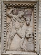 sculpture of hercules and boar - stock photo