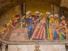 st. mark's basilica mosaic in venice - stock photo