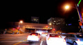 Intersection Traffic Timelapse 10 Loop Los Angeles Night Footage