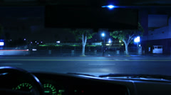 Intersection Traffic Timelapse 17 Loop Drivers View Hollywood Night - stock footage