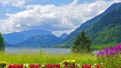 Mountain lake landscape. Stock Footage
