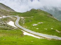 Colle dell'agnello, italian alps Stock Photos
