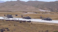 Super Stallions Boarding Marines - 02 Stock Footage