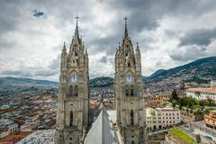 basilica del voto nacional, quito, ecuador - stock photo