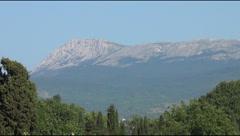 A mountain Chatyr-Dag Stock Footage
