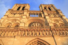 the cathedral of notre dame in paris - stock photo