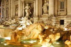 the trevi fountain - stock photo