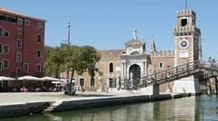 Venice Arsenal Stock Footage