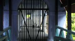 Prison bars Port Blair Stock Footage