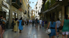 Shopping street in Verona Stock Footage