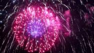 Stock Video Footage of Fireworks Show on July 4th