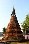 Ancient stupa in ayutthaya,thailand Stock Photos