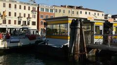 Water taxi arriving in Venice Stock Footage