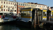 Stock Video Footage of Water taxi arriving in Venice