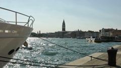 Venice waterside Stock Footage