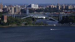 Hudson River Bridge NYC - stock footage