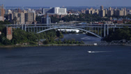 Stock Video Footage of Hudson River Bridge NYC