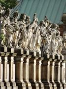 Twelve apostles of st peter and paul church at grodzka street, krakow, poland Stock Photos