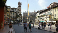 Stock Video Footage of Piazza delle Erbe in Verona