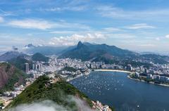 harbor and skyline of rio de janeiro brazil - stock photo