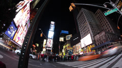 Times Square at Night Timelapse 2 Stock Footage