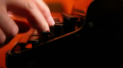man typing on a typewriter ,with sound  2 - stock footage