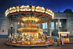 Children's carousel at the park of culture. gorky. moscow Stock Photos
