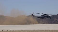 CH-53 takeoff - 02 Stock Footage