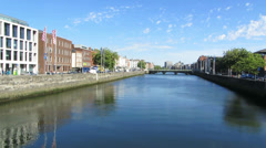 River Liffey 1 Stock Footage