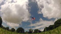US-Flag - Sky 01 Stock Footage