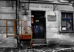 Antique shop in artistic view Stock Photos