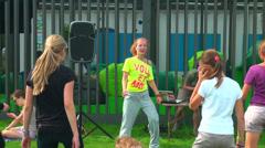 Animator, girl, dance Stock Footage