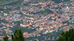Italy - South Tyrol - View on Brixen Stock Footage