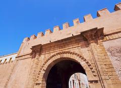 gate in essaouira, morocco - stock photo