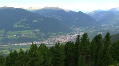 Italy - Dolomites area - View on the city Bressanone (Brixen) Stock Footage