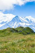 A beautiful view of the mont blanc in the french alps Stock Photos