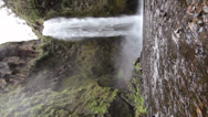 Stock Video Footage of Large waterfall in a cloudforest valley near Quito, Ecuador