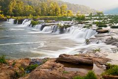 Sandstone Falls on the New River - stock photo