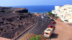 Motorhome parked in Callao Salvaje. Tenerife. Stock Footage