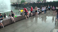 Stock Video Footage of A crowd of people drenched in water