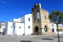 se church in faro, algarve, portugal - stock photo