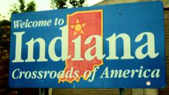 Stock Video Footage of indiana indianna state sign