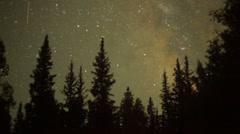 Milky way stars galaxy Stock Footage