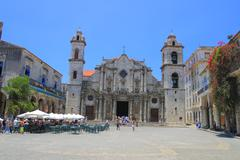 The cathedral of san cristobal de la habana Stock Photos