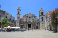 Stock Photo of the cathedral of san cristobal de la habana