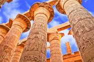 Stock Photo of Ancient stone columns in Karnak, Egypt