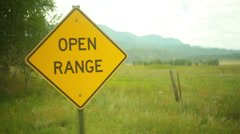 Open range Stock Footage
