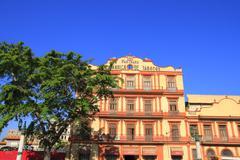house facade in havana - stock photo