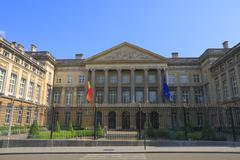 the belgian federal parliament - stock photo