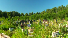Cemetery - stock footage